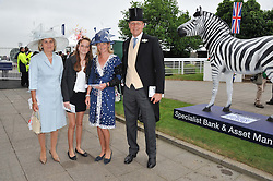 Left to right, KARIN DOBBIE, ROSE DUNLOP and MR & MRS EDWARD DUNLOP at the 2012 Investec sponsored Derby at Epsom Racecourse, Epsom, Surrey on 2nd June 2012.