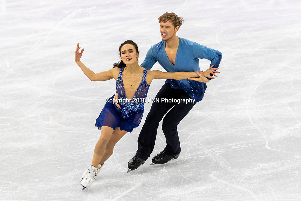 Madison Chock/Evan Bates (USA) competing in the Figure Skating - Ice Dance Free at the Olympic Winter Games PyeongChang 2018
