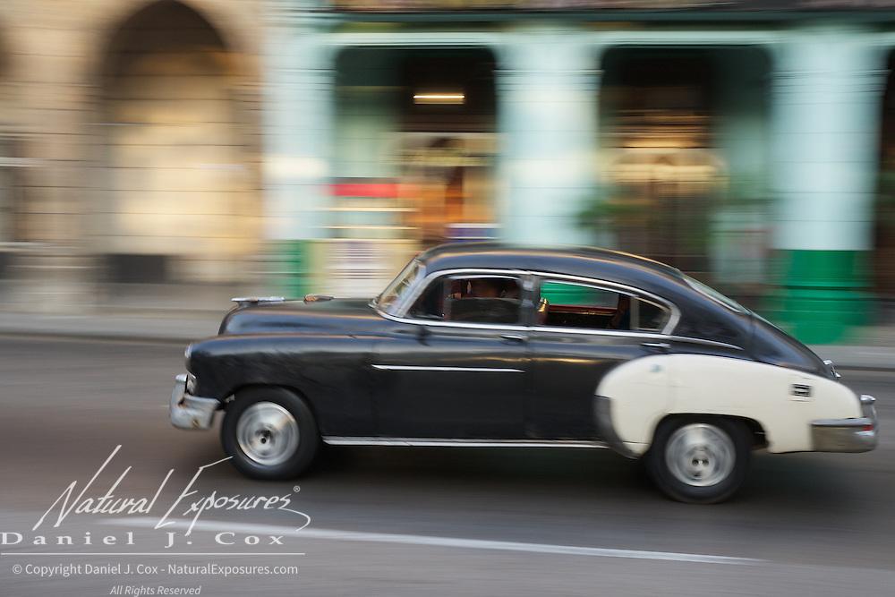 Vintage car on the streets of Havana, Cuba.