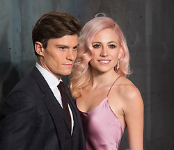 Tate Modern, London, April 26th 2017.  Oliver Cheshire and Pixie Lott arrive at the Tate Modern in London for the 'Lost In Space' 60th anniversary event for the Omega Speedmaster watch.