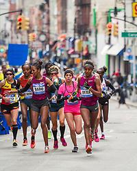 NYC Marathon, lead pack mile 11