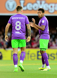 Korey Smith of Bristol City speaks with Josh Brownhill - Mandatory by-line: Dougie Allward/JMP - 15/08/2017 - FOOTBALL - Griffin Park - Brentford, England - Brentford v Bristol City - Sky Bet Championship