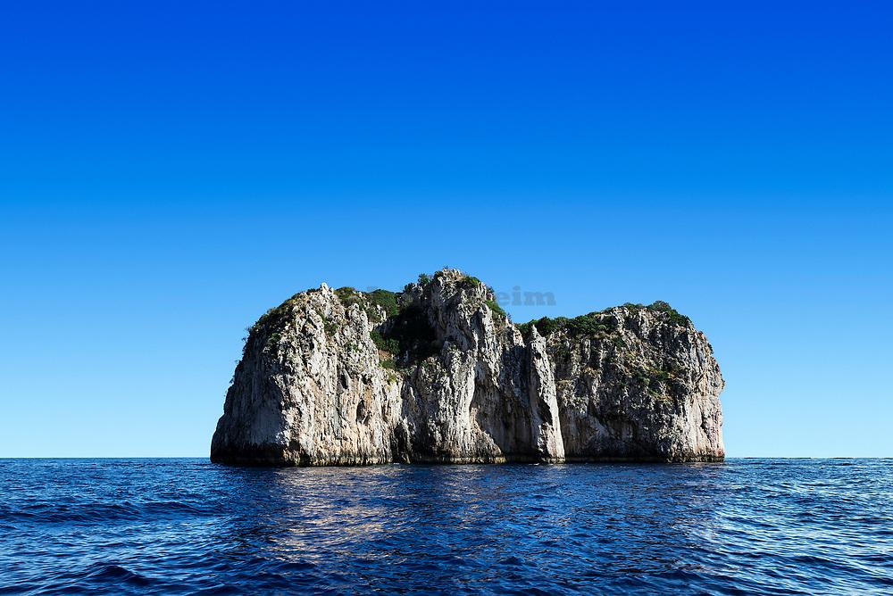 Small uninhabitied island off the coast of the Isle of Capri, Italy