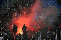 FOOTBALL - FRENCH CHAMPIONSHIP 2009/2010 - L1 - LILLE OSC v PARIS SAINT GERMAIN - 16/01/2010 - PHOTO JEAN MARIE HERVIO / DPPI - INCIDENTS PSG FANS