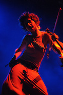 DURBAN - FILE PIC - 10 April 2006 - Kyla Rose Smith, violinist and vocalist of the popular South African band FreshlyGround seen here performing as a support act to Robbie Williams in Durban's Absa Stadium..Picture: Giordano Stolley