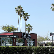 Floyds Barbershop remains empty due to the non-essential business order placed by the Orange County Government on Saturday, March 28, 2020 in Winter Park, Florida. (Alex Menendez via AP)
