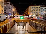 Flora subway station.