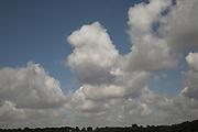 Set of photos of clouds, mainly cumulus