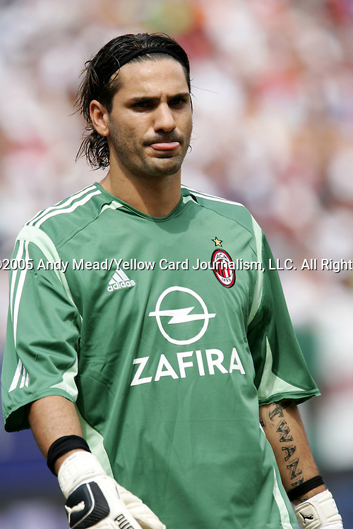31 July 2005: Dimitrios Eleftheropoulos. Chelsea FC of England and AC Milan of Spain tied 1-1 at Giants Stadium in East Rutherford, New Jersey in an international friendly soccer match as part of AEG's 2005 World Series of Football. .
