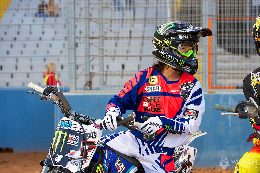 Taka Higashino during Moto X Freestyle Demo at the 2013 X Games Barcelona in Barcelona, Spain. ©Brett Wilhelm/ESPN