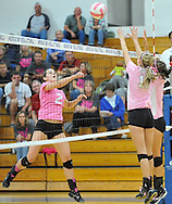Elyria Catholic at Midview varsity volleyball on September 20, 2012. Images © David Richard and may not be copied, posted, published or printed without permission.