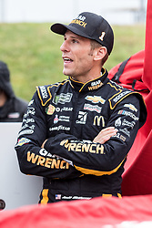 October 5, 2018 - Dover, DE, U.S. - DOVER, DE - OCTOBER 05: Jamie McMurray driver of the #1 GEARWRENCH Chevrolet on the grid, waiting out a rain delay for qualifying for the Monster Energy NASCAR Cup Series Gander Outdoors 400 on October 05, 2018, at Dover International Speedway in Dover, DE. Qualifying was canceled after approximately a 40 minute delay. (Photo by David Hahn/Icon Sportswire) (Credit Image: © David Hahn/Icon SMI via ZUMA Press)