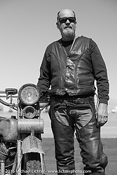 Mark Loewen with his 1925 Harley-Davidson JD Antique during Stage 11 (289 miles) of the Motorcycle Cannonball Cross-Country Endurance Run, which on this day ran from Grand Junction, CO to Springville, UT., USA. Tuesday, September 16, 2014.  Photography ©2014 Michael Lichter.