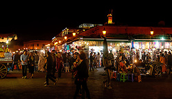 Night time in the Jemaa el Fna, Marrakech, Morocco, North Africa<br /> <br /> (c) Andrew Wilson | Edinburgh Elite media