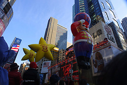 The 75th Macy's Thanksgiving Day Parade passing through Times Square, November 2001.