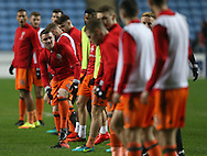 John Fleck of Sheffield Utd  prepares to warm up during the English League One match at the Rioch Arena Stadium, Coventry. Picture date: December 15th, 2016. Pic Simon Bellis/Sportimage