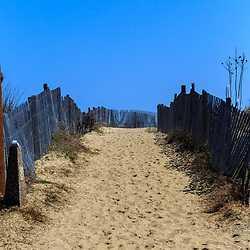 Bethany Beach, DE / USA - April 18, 2015: The walkway to the beach in Bethany, Delaware.