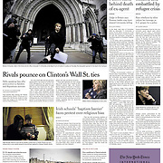 """Tearsheet of """"Catholic Church's Hold on Schools at Issue in Changing Ireland"""" published in The New York Times"""
