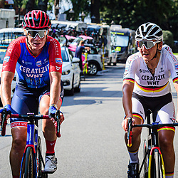 BRENNAUER Lisa ( GER ) – WILD Kirsten ( NED ) - Ceratizit-WNT Pro Cycling ( WNT ) - GER – Querformat - quer - horizontal - Landscape - Event/Veranstaltung: Giro Rosa Iccrea - 4. Stage - Category/Kategorie: Cycling - Road Cycling - Cycling Tour - Elite Women - Location/Ort: Europe – Italy - Start: Assisi - Finish: Tivoli - Discipline: Cycling - Road Cycling - Cycling Tour - Road Race ( RR ) - Distance: 170,3 km - Date/Datum: 14.09.2020 – Monday - Photographer: © Arne Mill - frontalvision.com