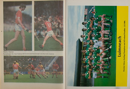 All Ireland Senior Hurling Championship - Final,.02.09.1984, 09.02.1984, 2nd September 1984,.Cork 3-16, Offaly 1-12,.02091984AISHCF,.Senior Cork v Offaly, .Minor Kilkenny v Limerick,.Limerick Team, V Murnane, A Madden, P Carey, J Fitzgerald, G Hegarty, A O'Riordan, A Cunneen, A Carmody, M Reale, T Byrnes, G Kirby, G Ryan, J O'Neill, P Davern, B Stapleton, Subs D Marren for T Byrnes, C Coughlan for J O'Neill, note, D Flynn played in drawn game J Fitzgerald was on for replay Sub in drawn game M O'Brien for J O'Neill,
