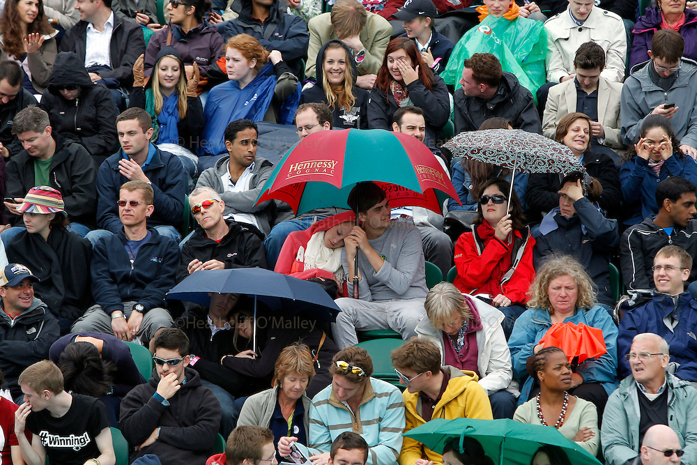 Mcc0032 .Daily Telegraph..Wet weather ..The third day of The Lawn Tennis Championships at Wimbledon..21 June 2011 Wimbledon