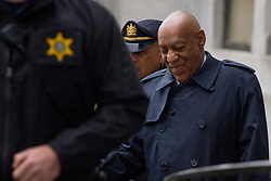 April 25, 2018 - Norristown, Pennsylvania, U.S. - Actor Bill Cosby arrives for his retrial on sexual assault charges, where the jury is expected to begin deliberations after being charged by Judge Steven T O'Neill. (Credit Image: © Michael Candelori/Pacific Press via ZUMA Wire)