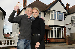 """© Licensed to London News Pictures. 07/01/2012.Bromley couple Graham and King Pamela Rutter have decided to give away their house in a Prize Property Competition. Frustrated after months of being unable to sell the family home because of the current economic climate,  Graham and Partner Pamela from Cromwell Avenue in Bromley have set up a website (www.prizeproperty.co.uk) so that people can view the property and purchase tickets for the competition at £30.00 each, people will have to answer three questions about Bromley to enter. The competition which is due to start this week will run until June 29 2012..Mr King needs to sell 25.000 tickets for the prize draw to go ahead. If fewer than 23,400 tickets are sold a cash prize will be given to the winner instead. Mr King a Business Consultant said """"The biggest challenge will be to sell enough tickets""""..Weather Photo credit : Grant Falvey/LNP"""
