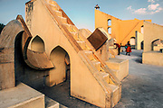 The Jantar Mantar is a collection of nineteen architectural astronomical instruments built by the Rajput king Sawai Jai Singh II, the founder of Jaipur, Rajasthan. The monument was completed in 1734. It features the world's largest stone sundial, and is a UNESCO World Heritage site.