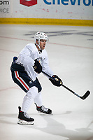 KELOWNA, BC - SEPTEMBER 22:  Riley Sheahan #23 of the Edmonton Oilers practices at Prospera Place on September 22, 2019 in Kelowna, Canada. (Photo by Marissa Baecker/Shoot the Breeze)