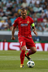 August 15, 2017 - Lisbon, Portugal - Steaua's forward Denis Alibec in action during the UEFA Champions League play-offs first leg football match between Sporting CP and FC Steaua Bucuresti at the Alvalade stadium in Lisbon, Portugal on August 15, 2017. (Credit Image: © Pedro Fiuza/NurPhoto via ZUMA Press)