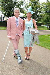 JEFF BANKS and SHAY WHITE at the 3rd day of the 2012 Glorious Goodwood racing festival at Goodwood Racecourse, West Sussex on 2nd August 2012.