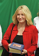British author J K Rowling signing a copy of one of her books for children at the Edinburgh International Book Festival which opened on the 12th August. Ms Rowling is one of a number of high-profile celebrities who are attending this annual event, the largest literary festival in the world.......