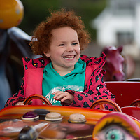 Caoimhe Casey from Lissycasey on the fairground ride at the Treacys West County Winter Wonderland on Saturday afternoon