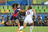 August 08, 2016; Rio de Janeiro, Brazil; USA Women's Eagles Sevens Ryan Carlyle in action against France during the Women's Rugby Sevens 5th Place Play-Off match on Day 3 of the Rio 2016 Olympic Games at Deodoro Stadium. Photo credit: Abel Barrientes - KLC fotos