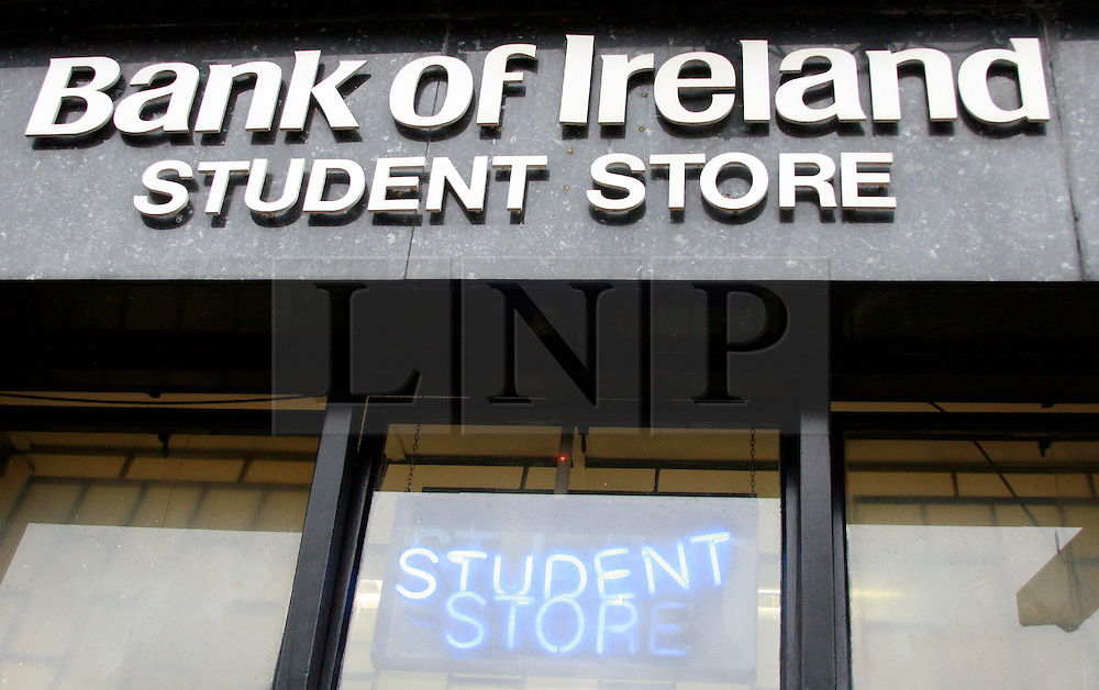Bank of Ireland Student Store, Camden Street Dublin © London News Pictures 10/01/2011.Irish Prime Minister Brian Cowen is under pressure over his relationship with former Anglo Irish Bank chairman Sen FitzPatrick. Anglo Irish Bank was taken into state ownership in January 2009 and is the largest contributor of assets to the Irish National Asset Management Agency. Picture caption should read Simon Lamrock/LNP