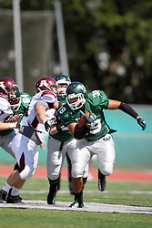 08 September 2012:  Sean Conley during an NCAA division 3 football game between the Alma Scots and the Illinois Wesleyan Titans which the Titans won 53 - 7 in Tucci Stadium on Wilder Field, Bloomington IL