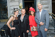 Suzanne Zelman, Dublin, Anthony Lynch, Dublin, Alison Power, Dublin, Michael Seaman, Dublin at the Hotel Meyrick Most Stylish Lady event on ladies day of The Galway Races. Photo:Andrew Downes