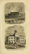 Prison [top] and Medical College [bottom], Louisville, KY from the book ' Historical Sketches Of Kentucky (1847) ' ITS HISTORY, ANTIQUITIES, AND NATURAL CURIOSITIES, GEOGRAPHICAL, STATISTICAL, AND GEOLOGICAL DESCRIPTIONS. WITH ANECDOTES OF PIONEER LIFE By Lewis Collins. Published by Lewis Collins, Maysville, KY. and J. A. & U. P. James Cincinnati. in 1847
