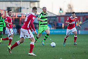Forest Green Rovers Charlie Clough(5) runs forward during the Vanarama National League match between Wrexham FC and Forest Green Rovers at the Racecourse Ground, Wrexham, United Kingdom on 26 November 2016. Photo by Shane Healey.