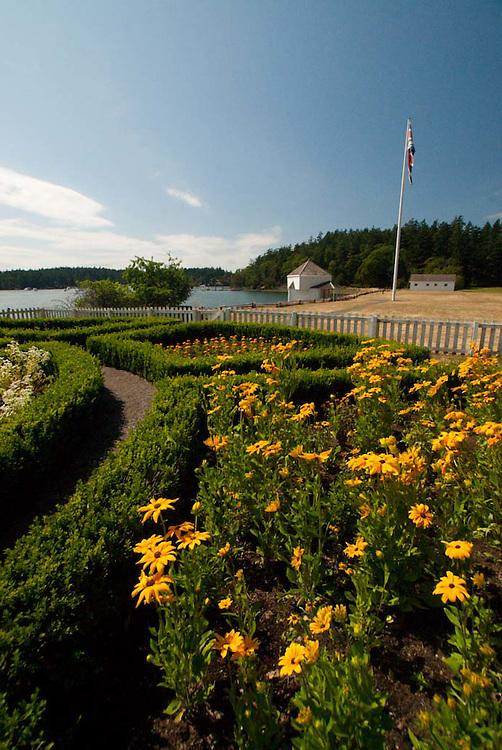 Formal Garden at English Camp, San Juan Island, Washington, US