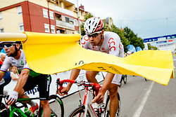 The flag and Adrian Kurek of CCC Sprandl Polkowice at finish line during 1st Stage of 25th Tour de Slovenie 2018 cycling race between Lendava and Murska Sobota (159 km), on June 13, 2018 in  Slovenia. Photo by Matic Klansek Velej / Sportida