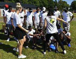 July 19, 2017 - Gothenburg, Sweden - Princess Sofia..***EXCLUSIVE***  IngÃ¥r ej i avtal..Gothia Cup, Project Playground FC from South Africa, Gothenburg, 2017-07-19..(c) Tommy Holl / IBL....Göteborg Gothia Cup 2017 Prinsessan Sofia kom och tittade pÃ¥ Projekt Playground frÃ¥n Syd Afrika som var hennes jobb innan giftermÃ¥let med Carl Philip Hon är i Göteborg ensam Prinsen och sonen alexander är hemma pÃ¥ Öland hon saknar dom (Credit Image: © Tommy Holl/IBL via ZUMA Press)