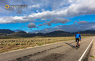Road bicycling in Great Basin National Park, Nevada, USA MR