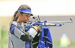 05.09.2015, Olympia Schiessanlage Hochbrueck, Muenchen, GER, ISSF World Cup 2015, Gewehr, Pistole, Damen, 10 Meter Luftgewehr, im Bild Apurvi Chandela (IND) konzentriert sich // during the women's 10M air rifle competition of the 2015 ISSF World Cup at the Olympia Schiessanlage Hochbrueck in Muenchen, Germany on 2015/09/05. EXPA Pictures © 2015, PhotoCredit: EXPA/ Eibner-Pressefoto/ Wuest<br /> <br /> *****ATTENTION - OUT of GER*****
