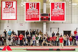 Galen Rupp set American record in 2-Mile at BU Terrier Classic Indoor Track, backstretch lined with spectators,