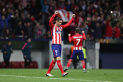 May 3, 2018 - Madrid, Spain - FERNANDO TORRES of Atletico de Madrid celebrates victory during the UEFA Europa League, semi final, 2nd leg football match between Atletico de Madrid and Arsenal FC on May 3, 2018 at Metropolitano stadium in Madrid, Spain (Credit Image: © Manuel Blondeau via ZUMA Wire)