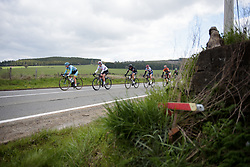 Head of the race at the Liege-Bastogne-Liege Femmes - a 135.5 km road race between Bastogne and Ans on April 23 2017 in Liège, Belgium.