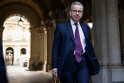 © Licensed to London News Pictures. 01/12/2020. London, UK. Minister for the Cabinet Office Michael Gove on Downing Street after the cabinet meeting. MPs will later vote on a new set of tiered restrictions to replace the national lockdown after 2 December. Photo credit: Rob Pinney/LNP
