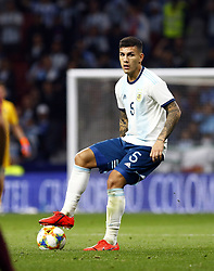 March 22, 2019 - Madrid, Madrid, Spain - Argentina's Leandro Paredes seen in action during the International Friendly match between Argentina and Venezuela at the wanda metropolitano stadium in Madrid. (Credit Image: © Manu Reino/SOPA Images via ZUMA Wire)