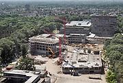 Nederland, Nijmegen, 28-6-2019Nieuwbouw op de Thomas van Aquino straat. Het vroegere straatje van de gamma faculteit is gesloopt en nieuwbouw is onderweg .Foto: Flip Franssen